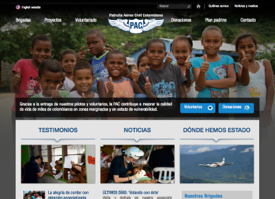 Patrulla Aerea Civil Colombiana PAC | web design